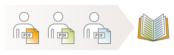 Illustration: Multiple authors can work on one project