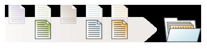 Illustration: Nur einzelne Dateien für den Druck auswählen