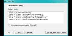 Logfenster informiert im Automatikmodus über aktuellen Status