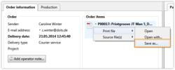 Screenshot: Druckdatei kann direkt gespeichert werden, ohne dass sie geöffnet werden muss