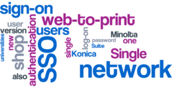 Single sign-on (SSO) in the web-to-print module