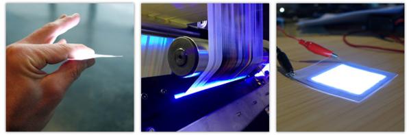 LightPaper: Druckbares, leuchtendes Papier