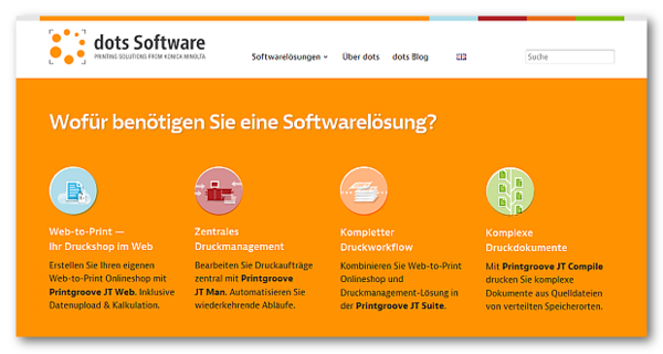 Screenshot der neuen Startseite