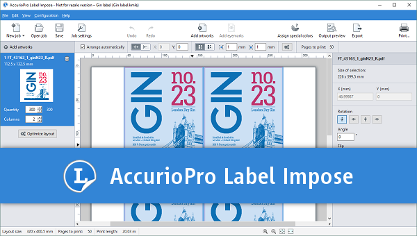 AccurioPro Label Impose: Easy-to-use imposition tool for label printing