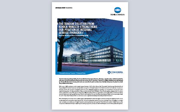 Success Story for AccurioPro Flux: Concordia Versicherungen