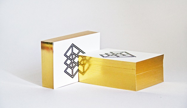 Business card as example for Luxury Printing, a print design trend in 2014