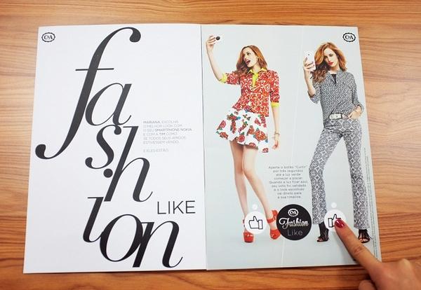 Brasilianisches Print-Magazin erscheint mit funktionierendem Like-Button