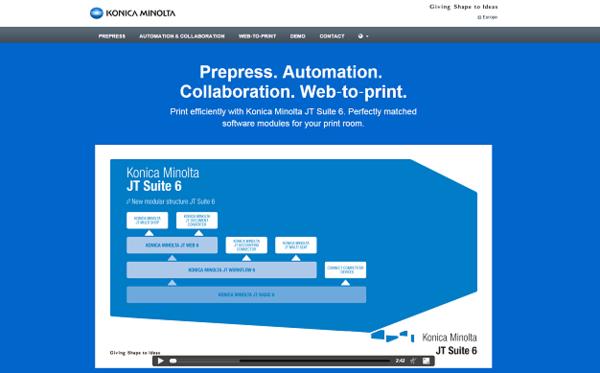 New product website introducing Konica Minolt JT Suite 6