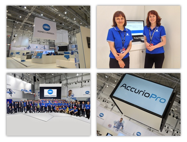 Impressions from the Konica Minolta booth at drupa 2016