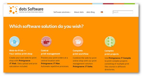Screenshot shows new dots web site