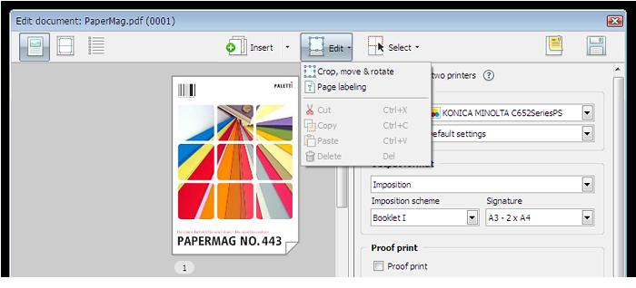 Capture d'écran: Modification d'un document dans l'éditeur de travail
